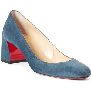 NWT Christian Louboutin Miss Sab 55 Suede Pumps 37